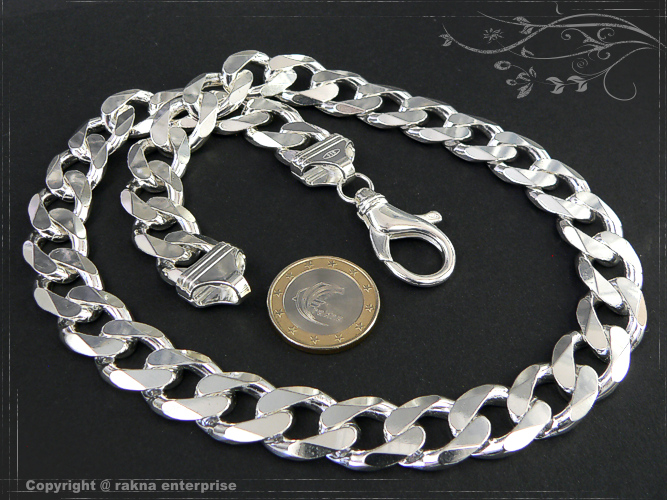 Curb chains 925 sterling silver width 14mm  massiv