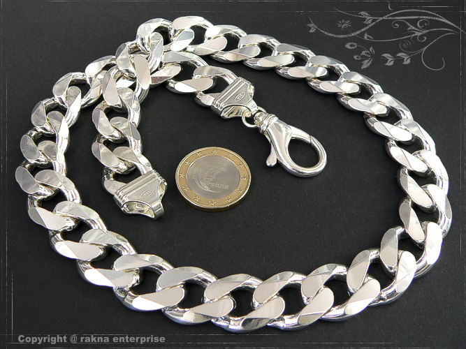 Curb chains 925 sterling silver width 16,5mm  massiv